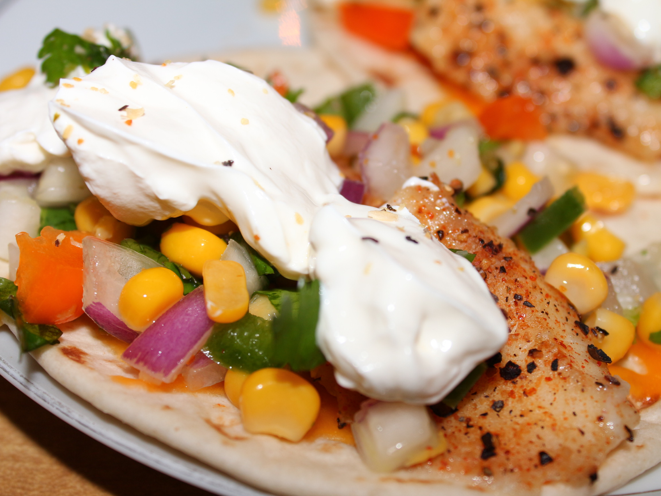 Fiery Fish Tacos with Crunchy Corn Salsa Alan Oliver
