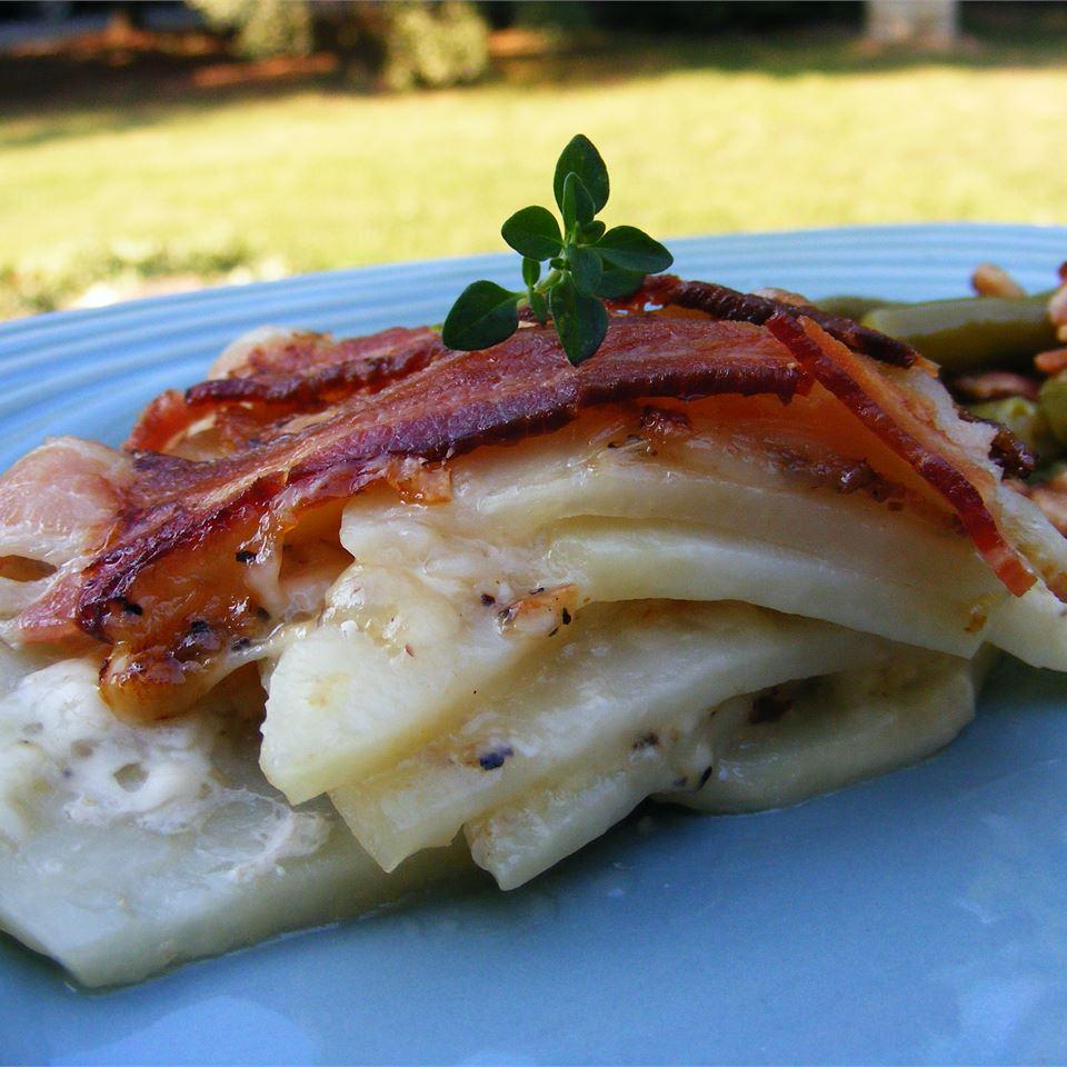 Bacon, Potato and Cheese Tart