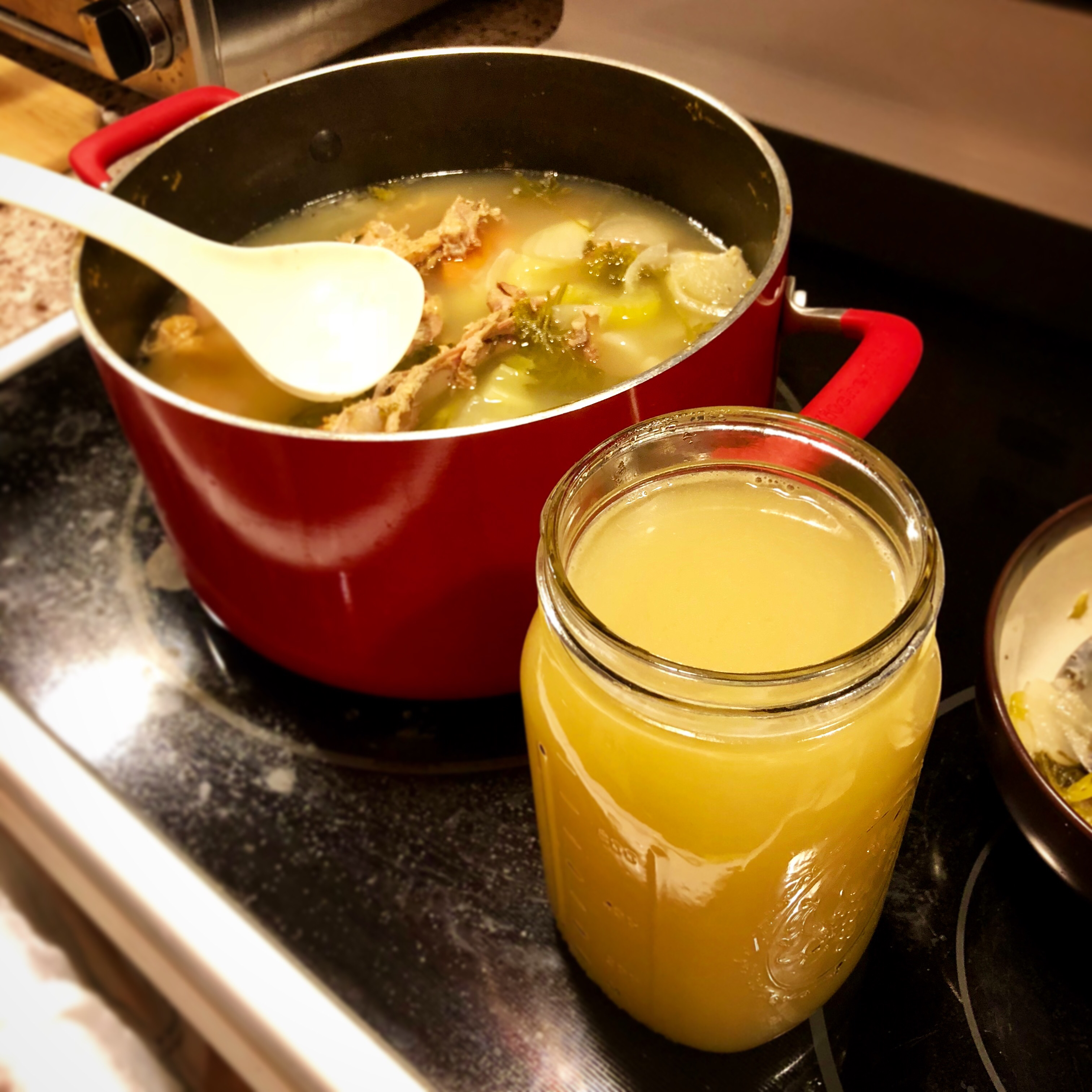 Leftover T-Day Turkey Stock