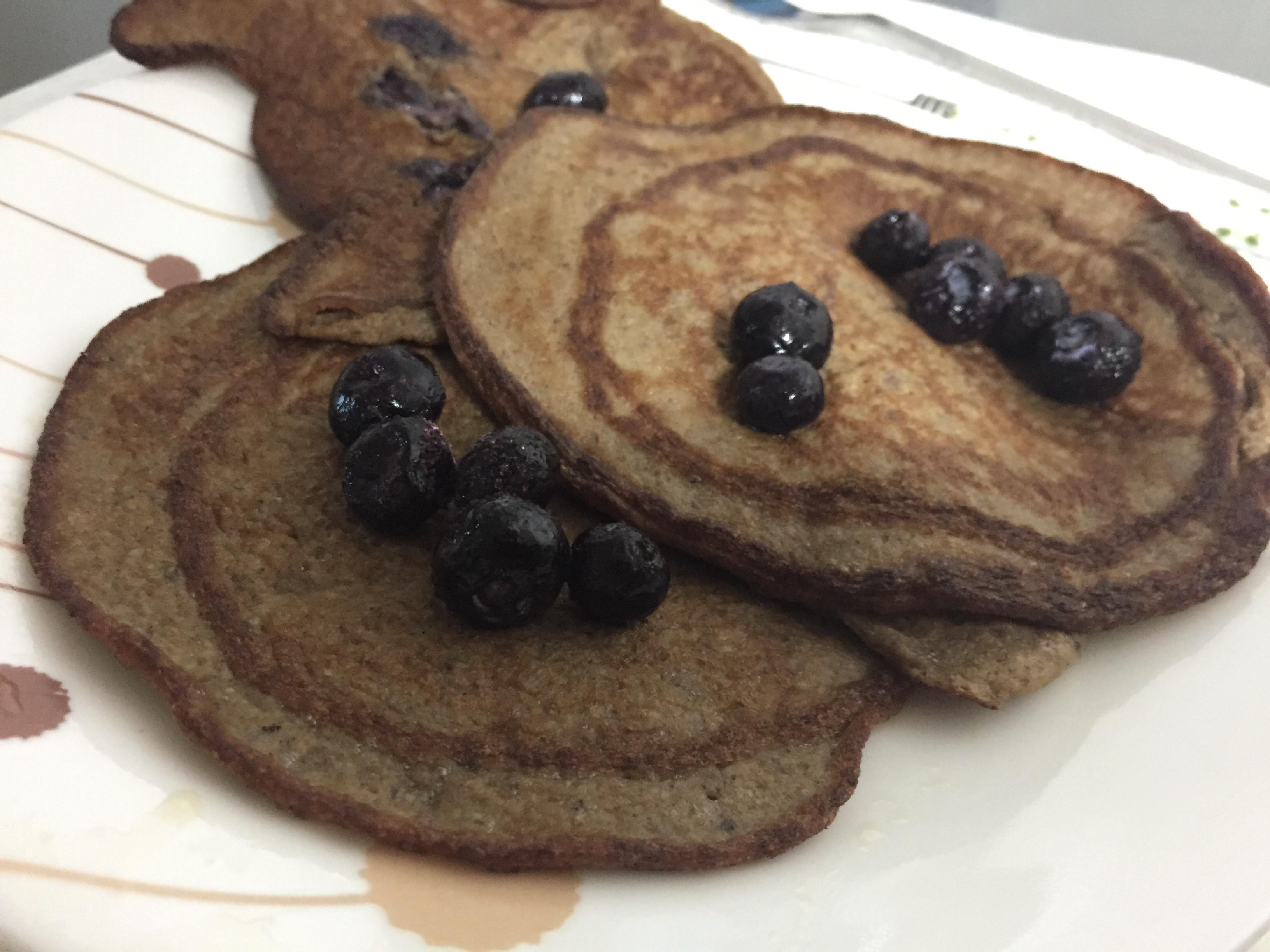 Easy Banana Chia Blueberry Pancakes Alicia Pyle