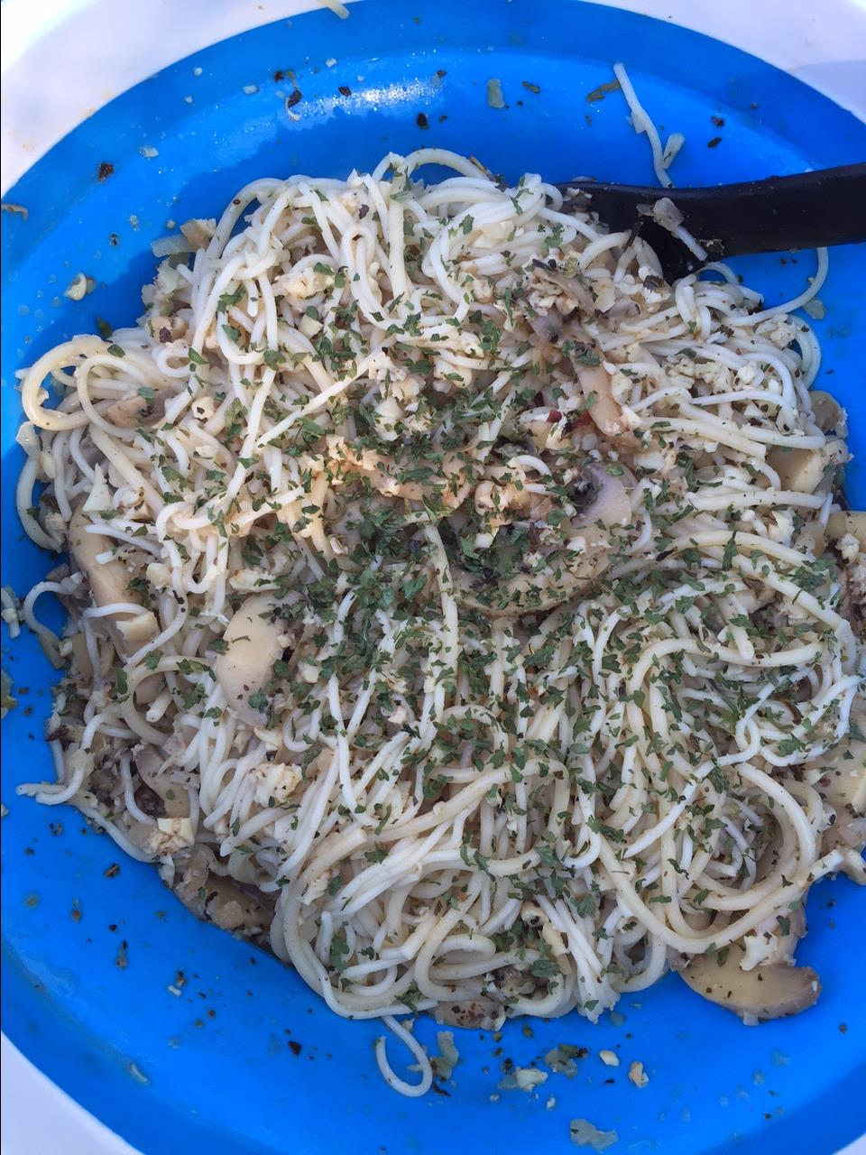 Camping Pasta with Clam Sauce fabeveryday