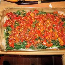 Baked Haddock with Spinach and Tomatoes Ed Whipple