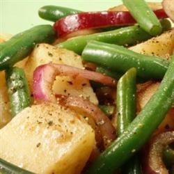 Warm Green Bean and Potato Salad with Goat Cheese nikibiv