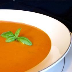 Hearty Hot or Cold Roasted Tomato Soup