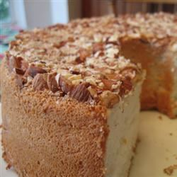 Angel Food Cake with Toasted Almonds
