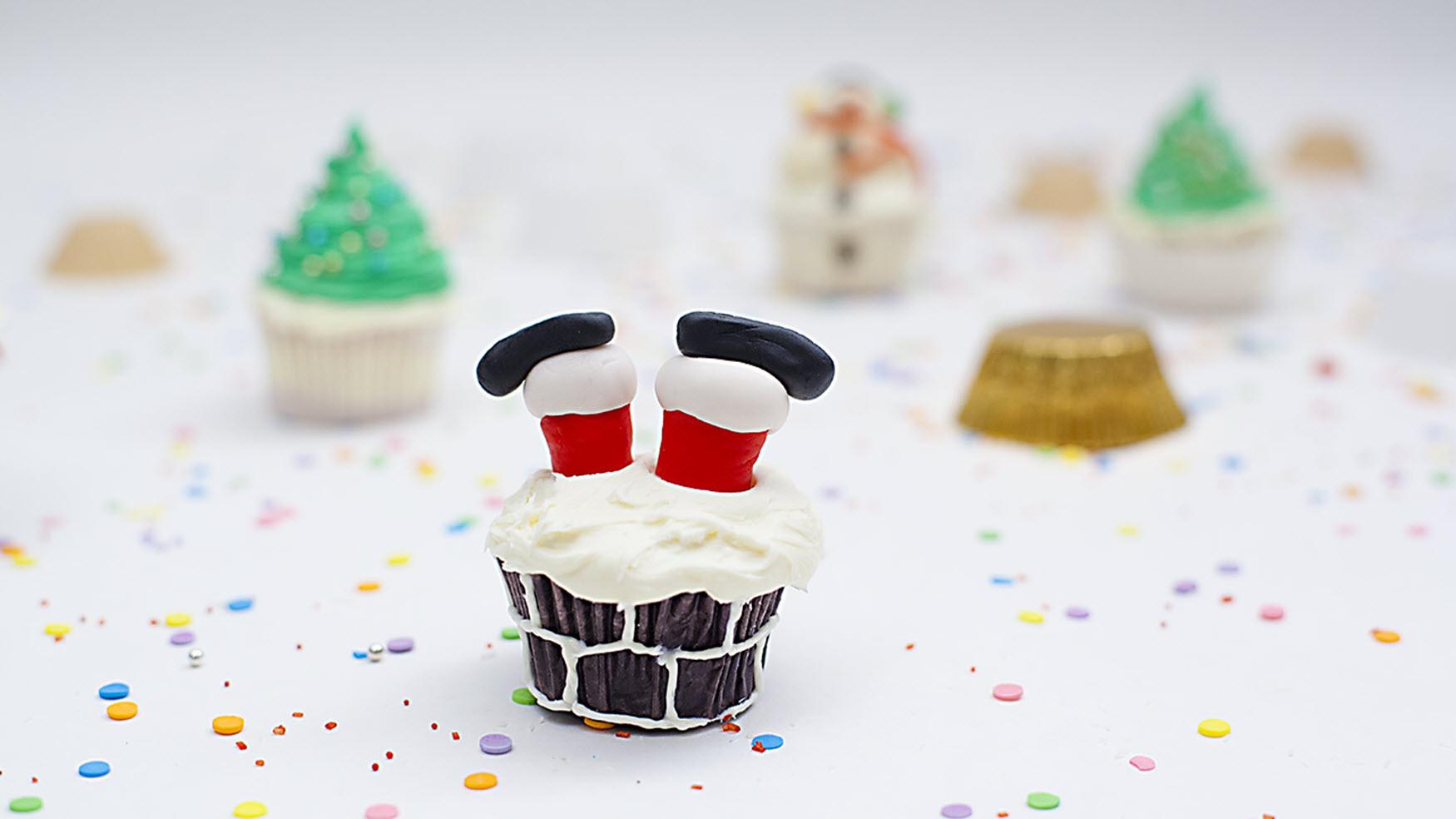 Santa Leg Cupcakes Magda