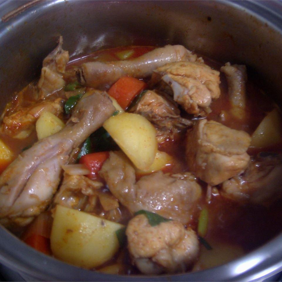 Korean Spicy Chicken and Potato (Tak Toritang)