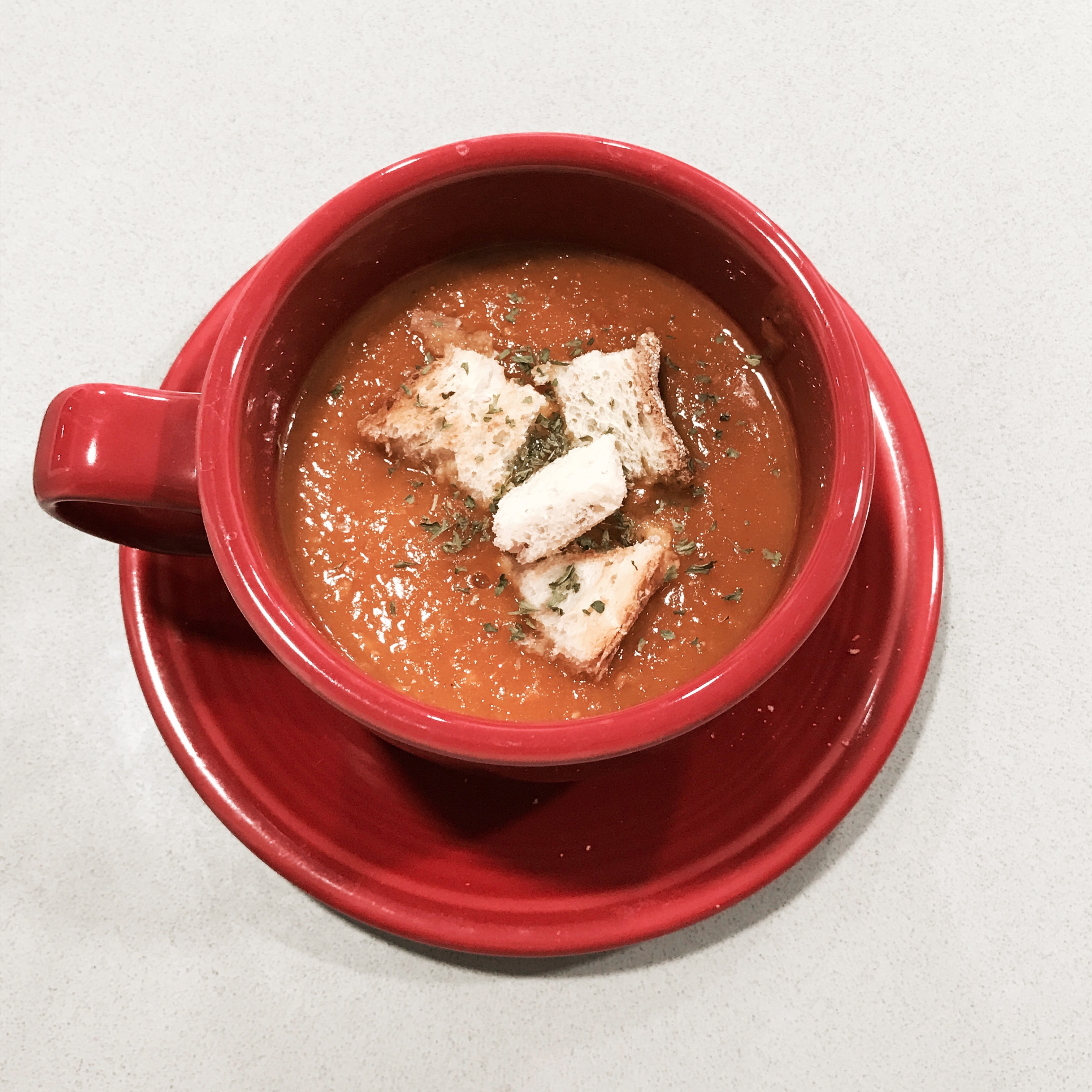 Roasted Red Pepper and Tomato Soup Haen-nim Na