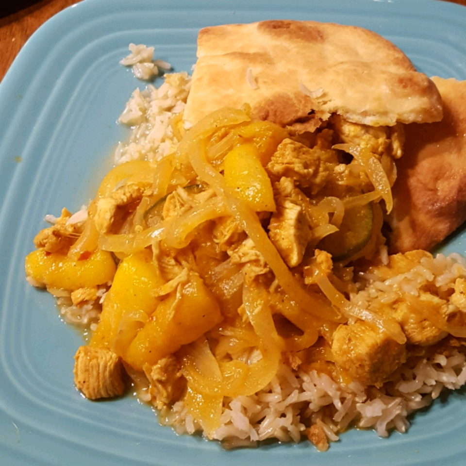 Spicy Indian Chicken and Mango Curry KIKI810