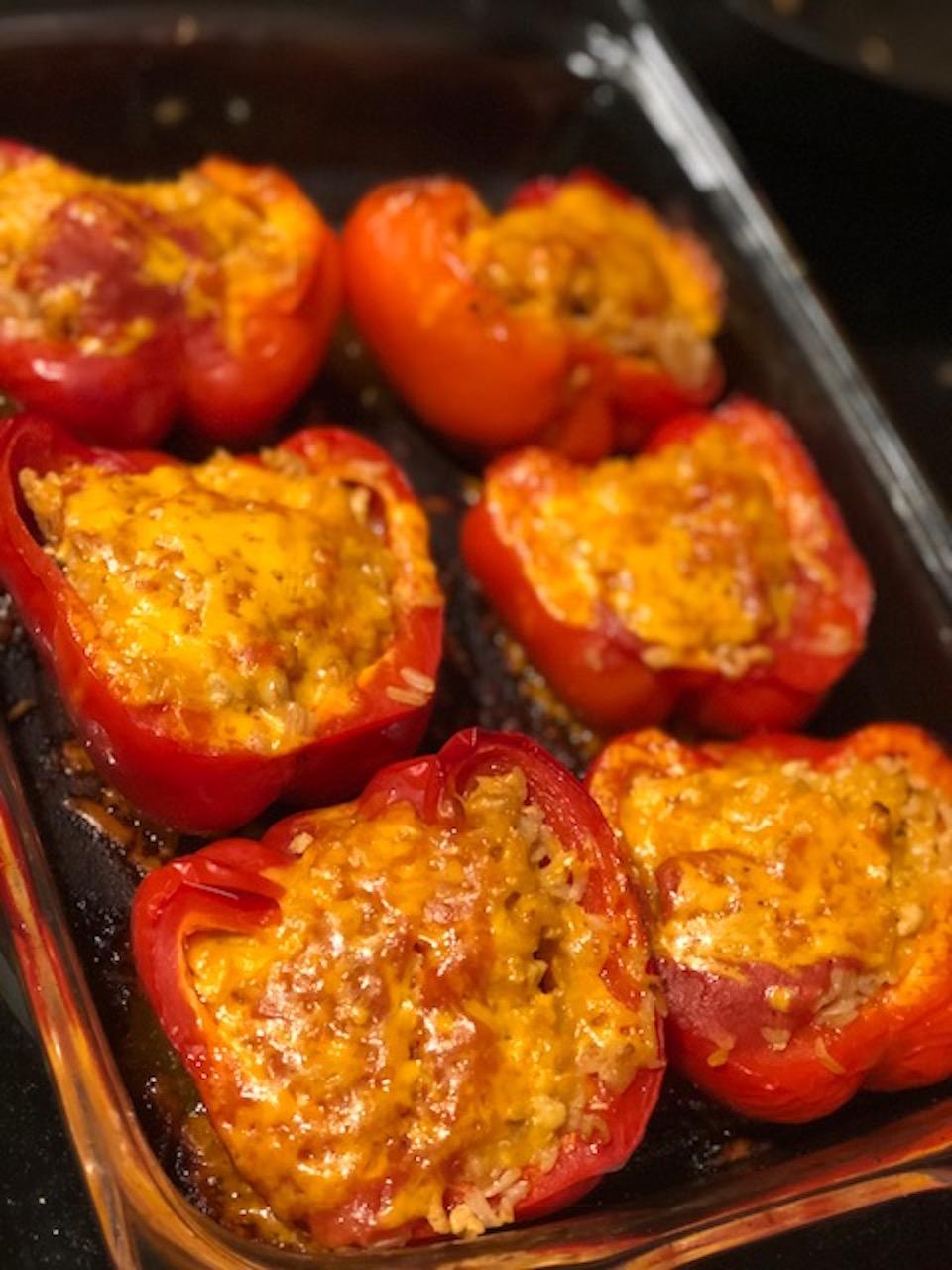 Basmati Rice and Turkey Stuffed Peppers Emily Ott