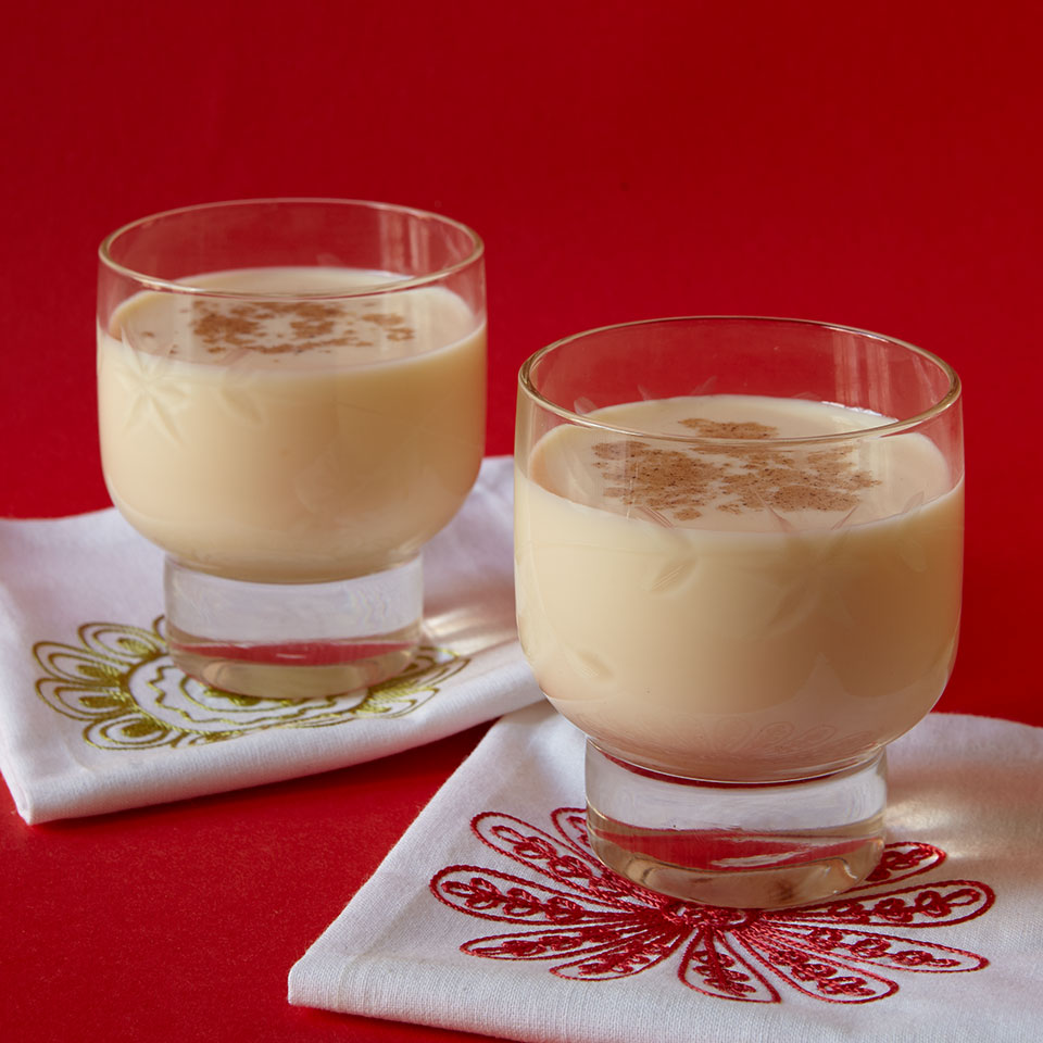 Not kid stuff: A sophisticated and safe low-fat version of classic eggnog. Source: EatingWell Magazine, November/December 1998