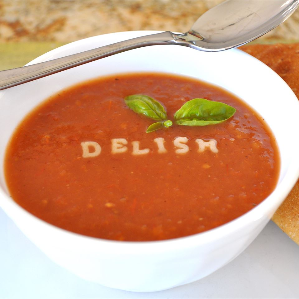 Hearty Hot or Cold Roasted Tomato Soup Alberta Rose