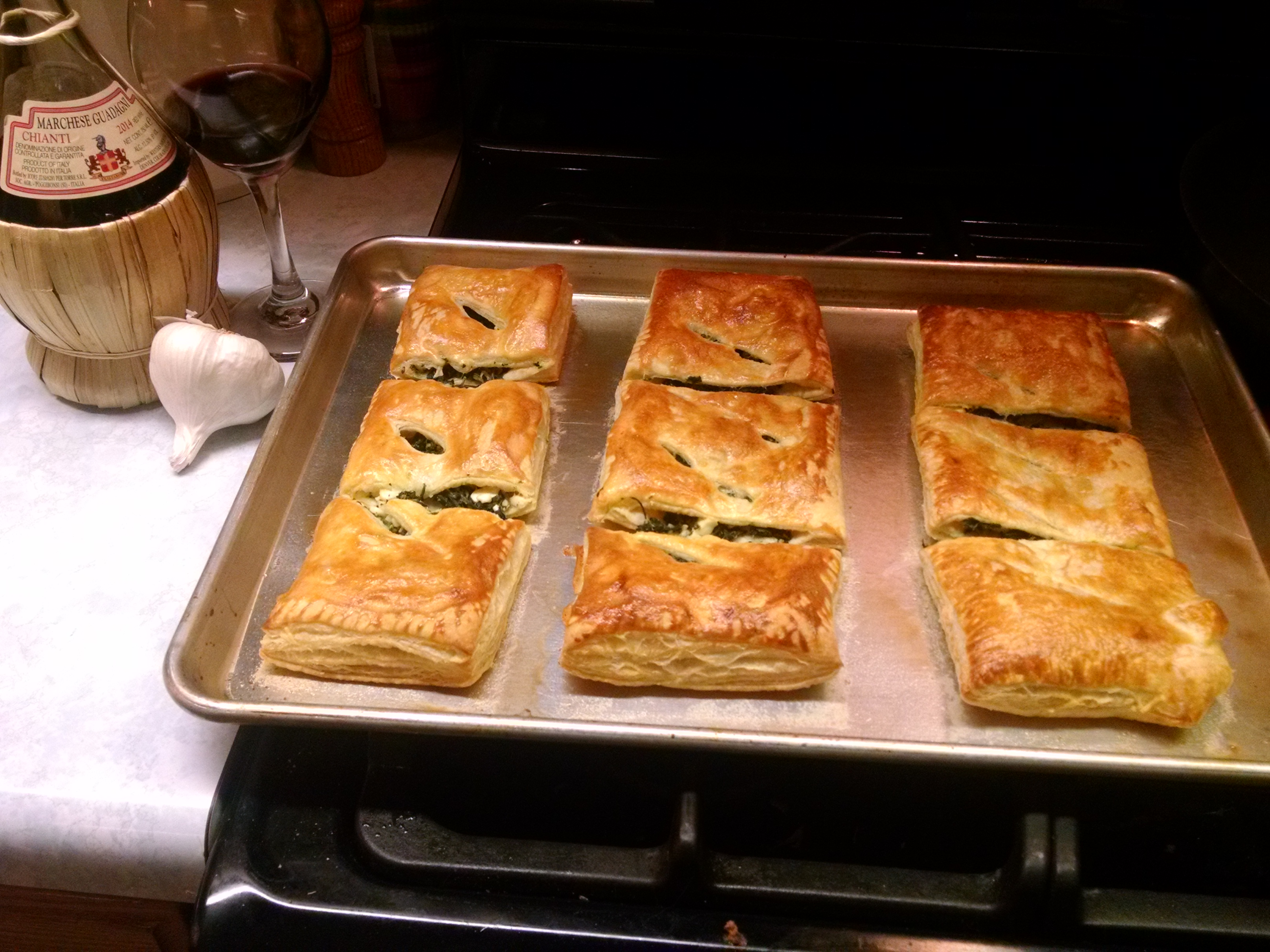 Spinach Rolls with Puff Pastry Neil James