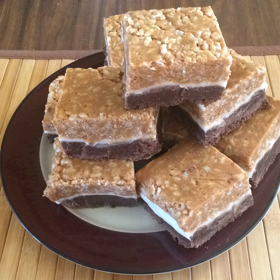 Peanut Butter Rice Krispies® Brownies Shorty Meanface