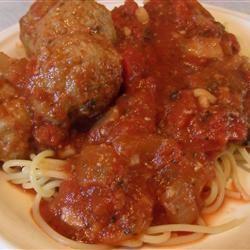 Jansen's Spaghetti Sauce and Meatballs