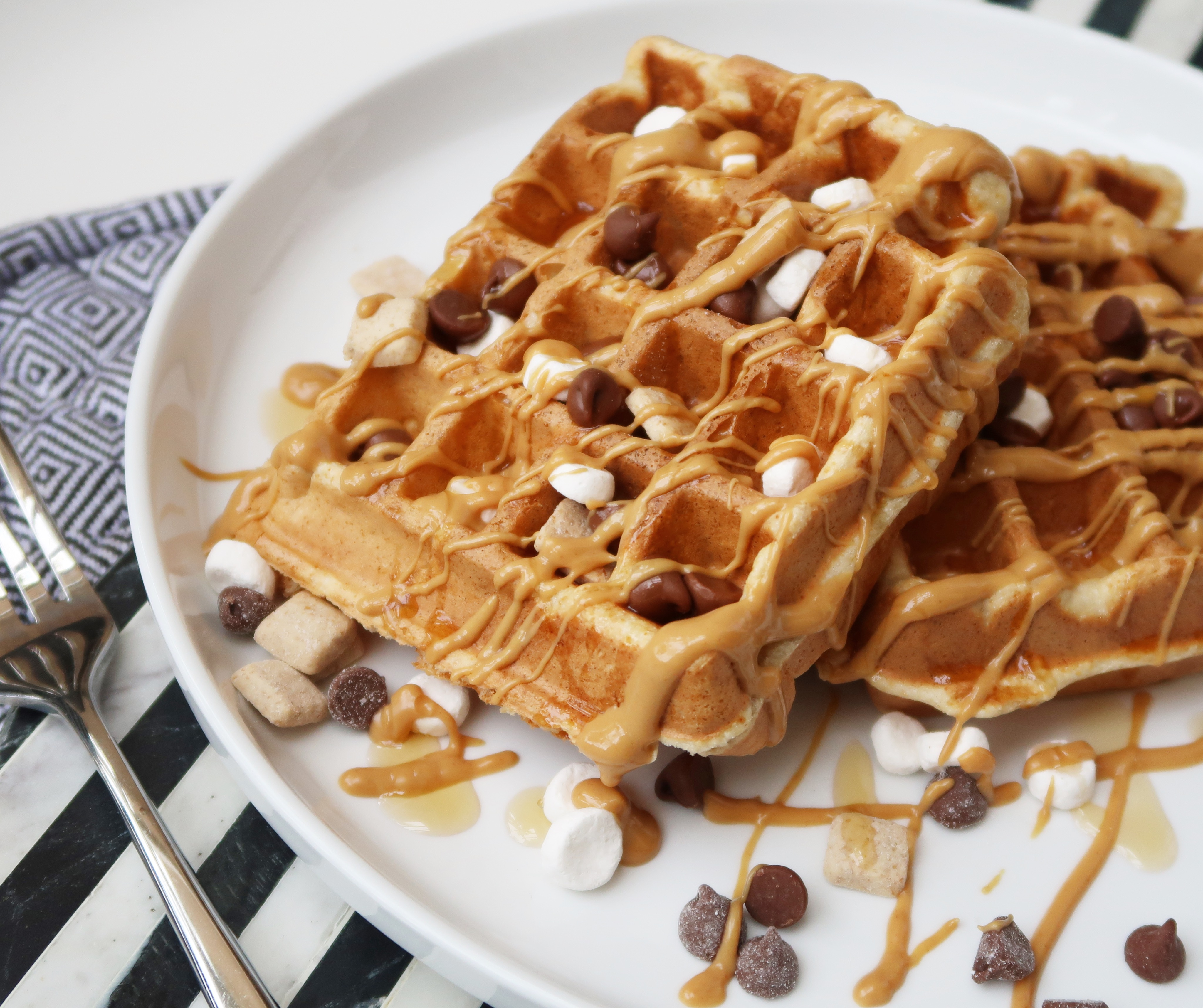 Over-the-Top S'mores Waffles House of Aqua