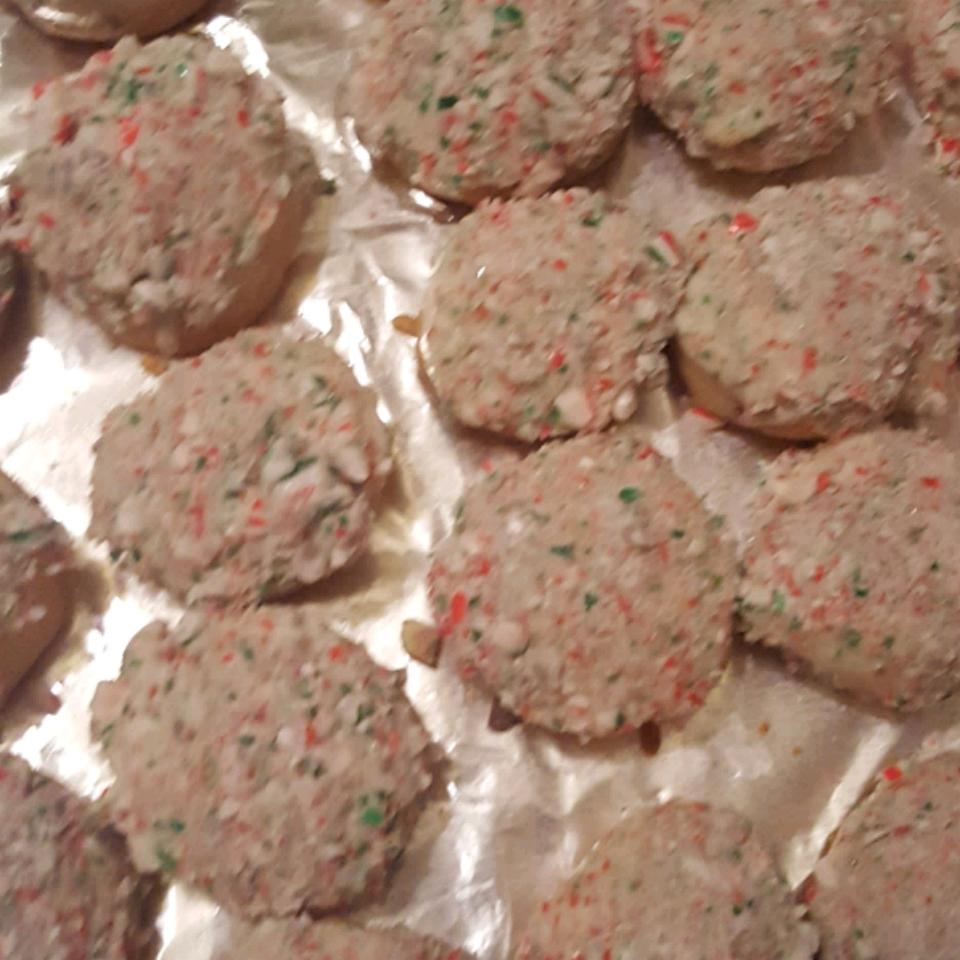 Candy Cane Snowball Cookies R_honda