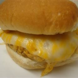 Buffalo Chicken Burgers with Blue Cheese Dressing amandak23k