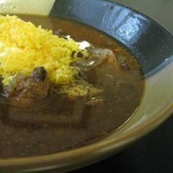 Jerre's Black Bean and Pork Tenderloin Slow Cooker Chili mommyluvs2cook