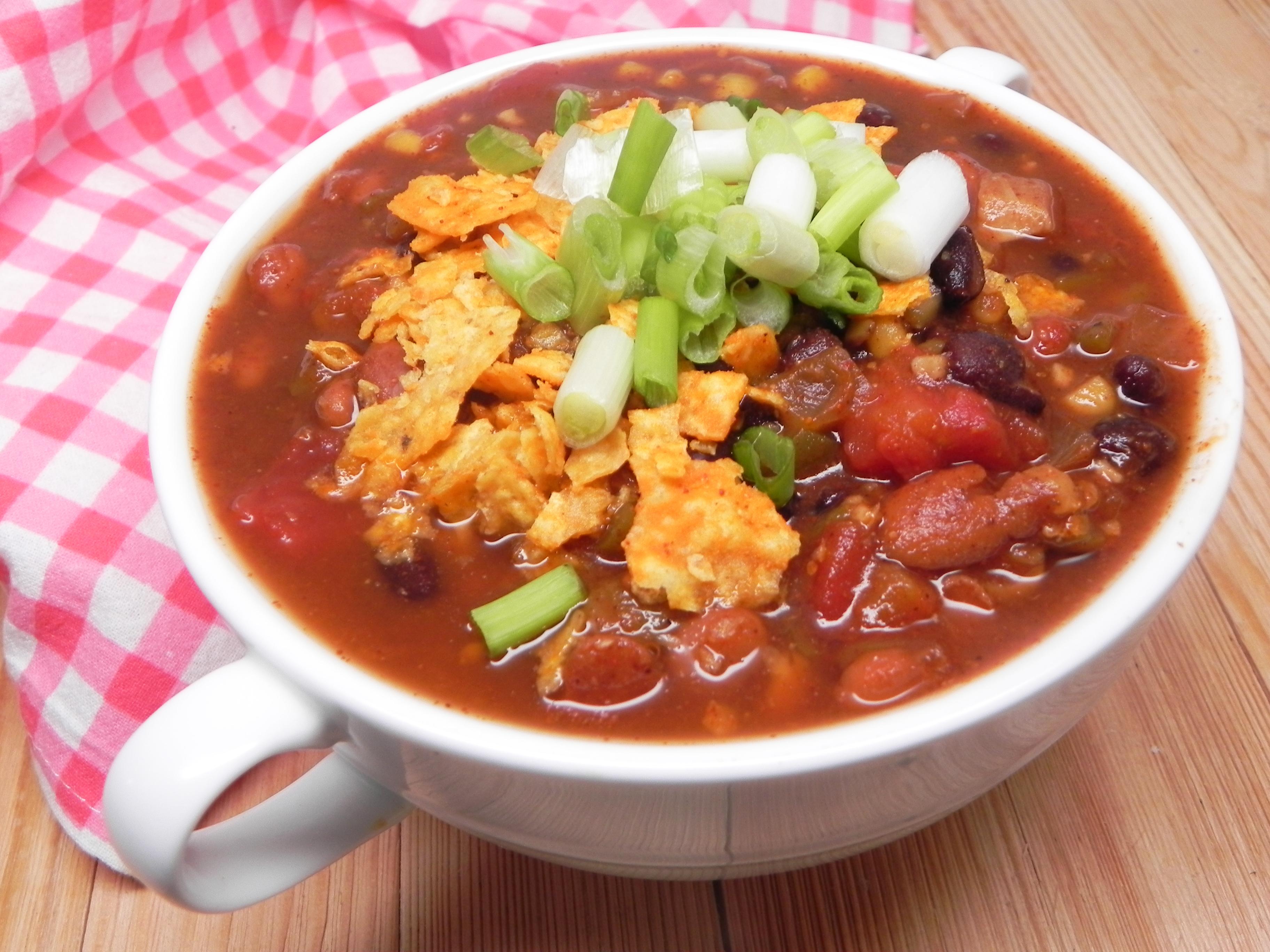 Slow Cooker Vegan Taco Soup