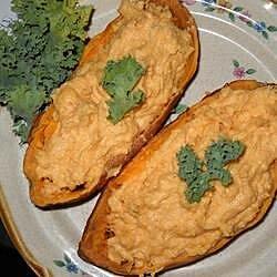 savory twice baked sweet potatoes recipe
