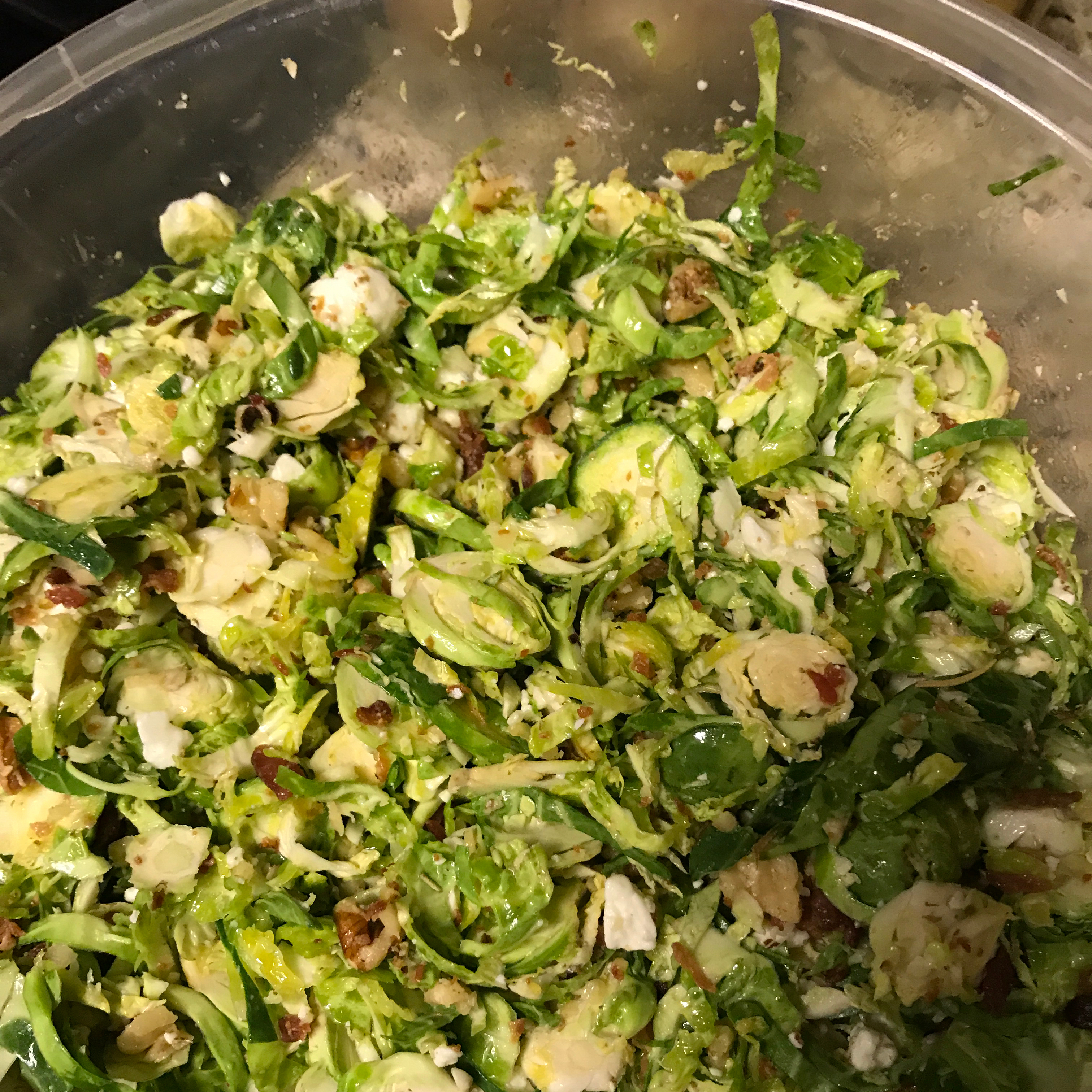 Hazelnut and Fresh Brussels Sprout Salad Brenda