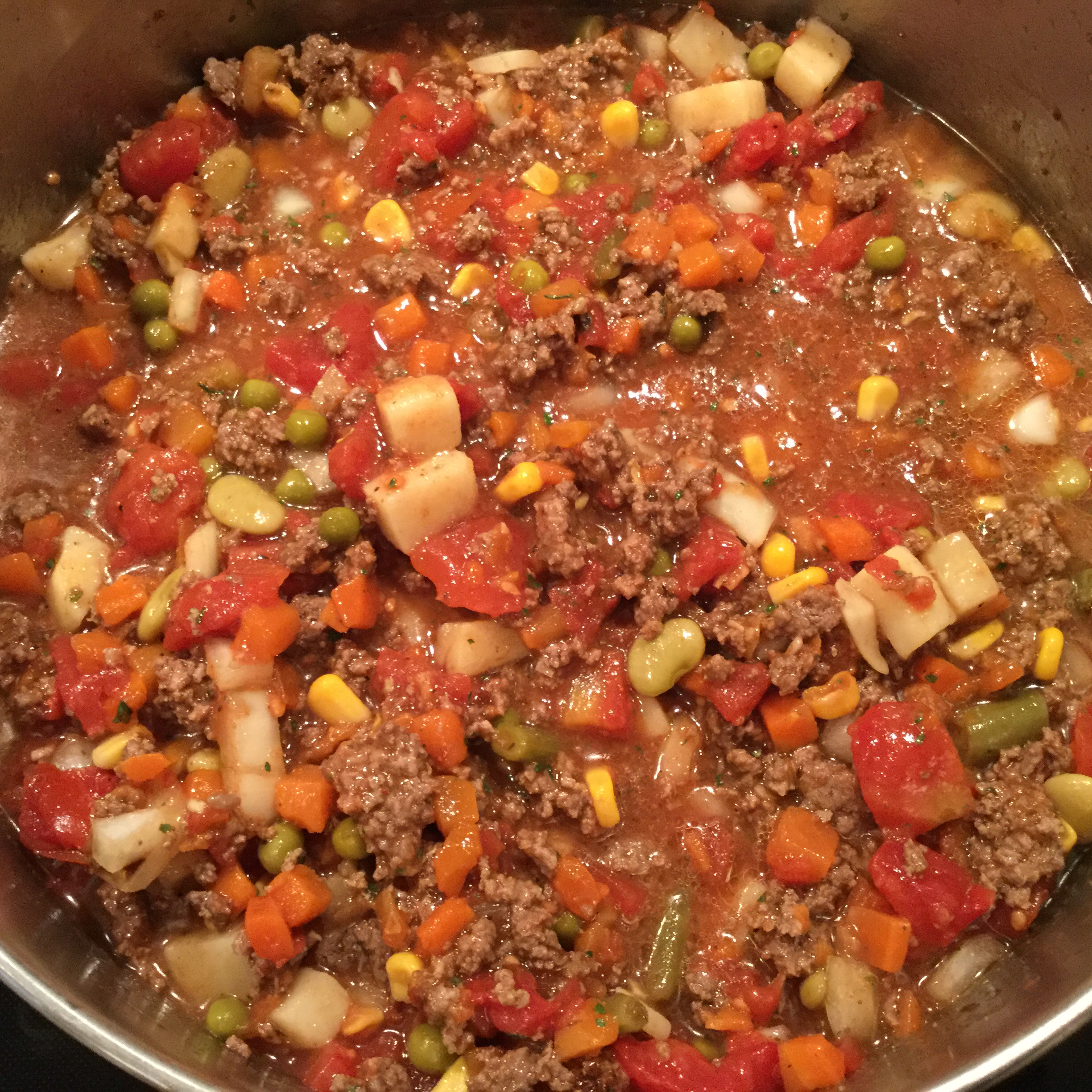 Easy Vegetable Beef Soup with Ground Beef