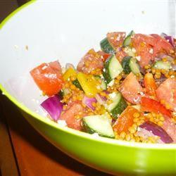 Greek Lentil Salad melissajean