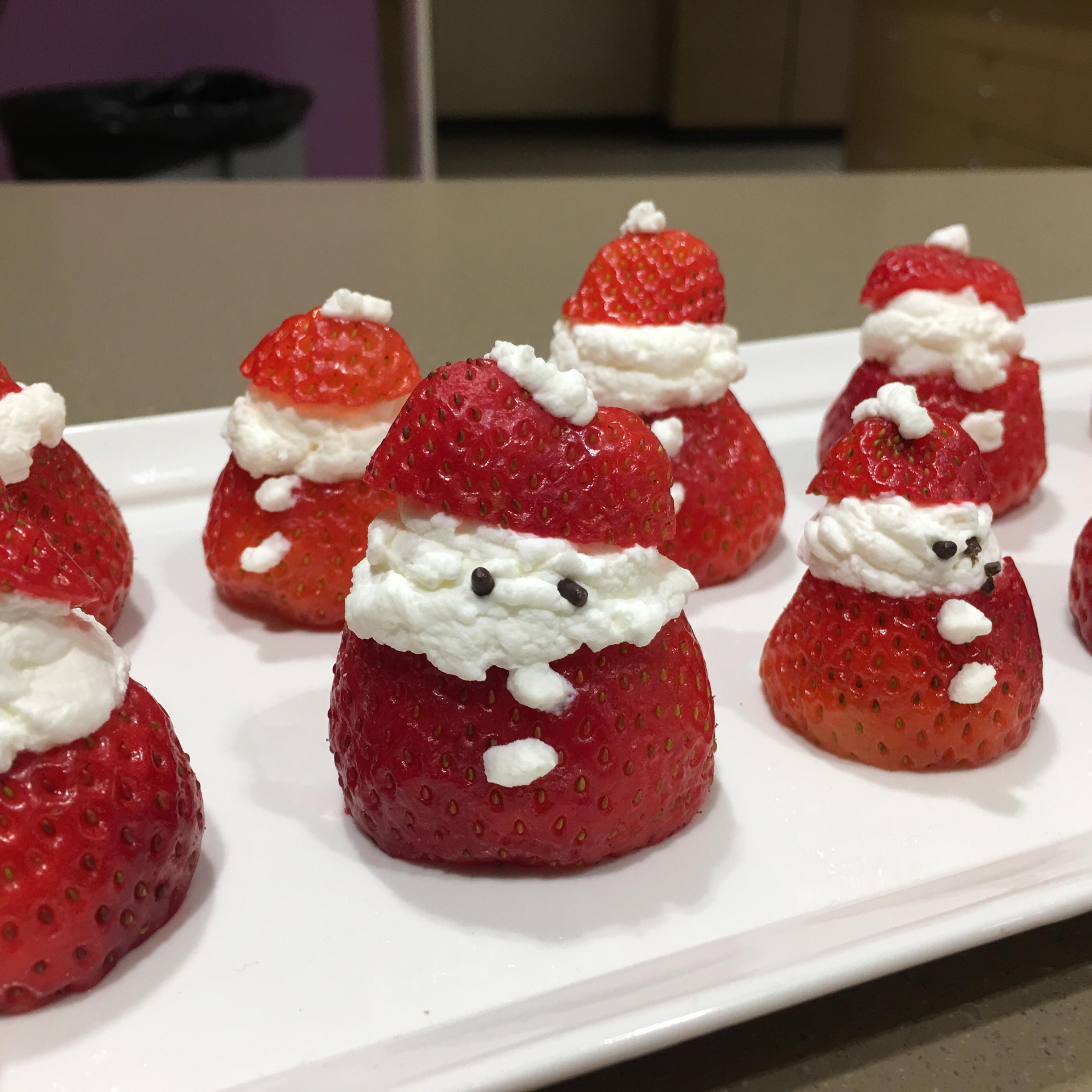Mini Strawberry Santas