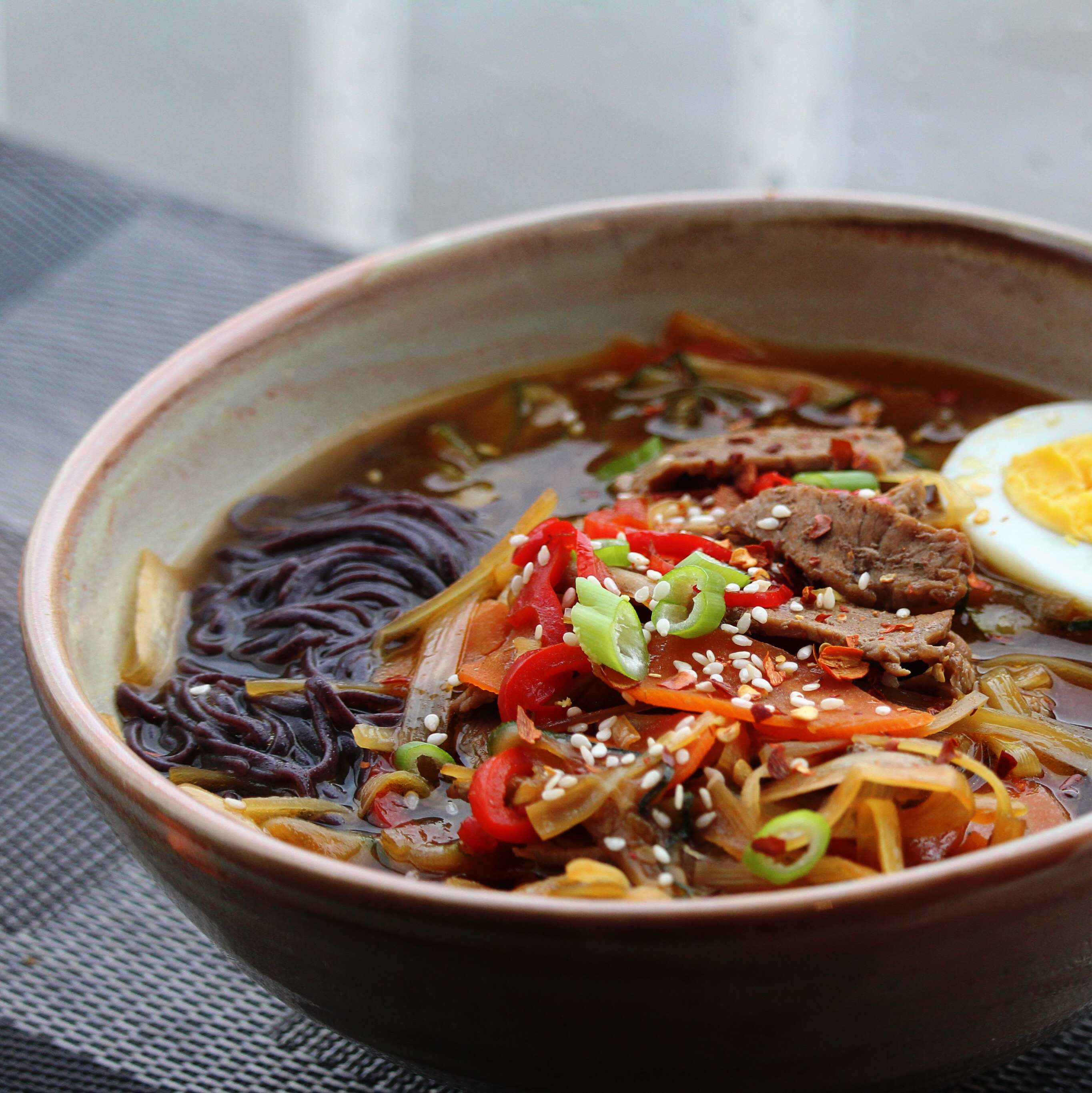 Asian-Themed Beef and Rice Noodle Soup Buckwheat Queen
