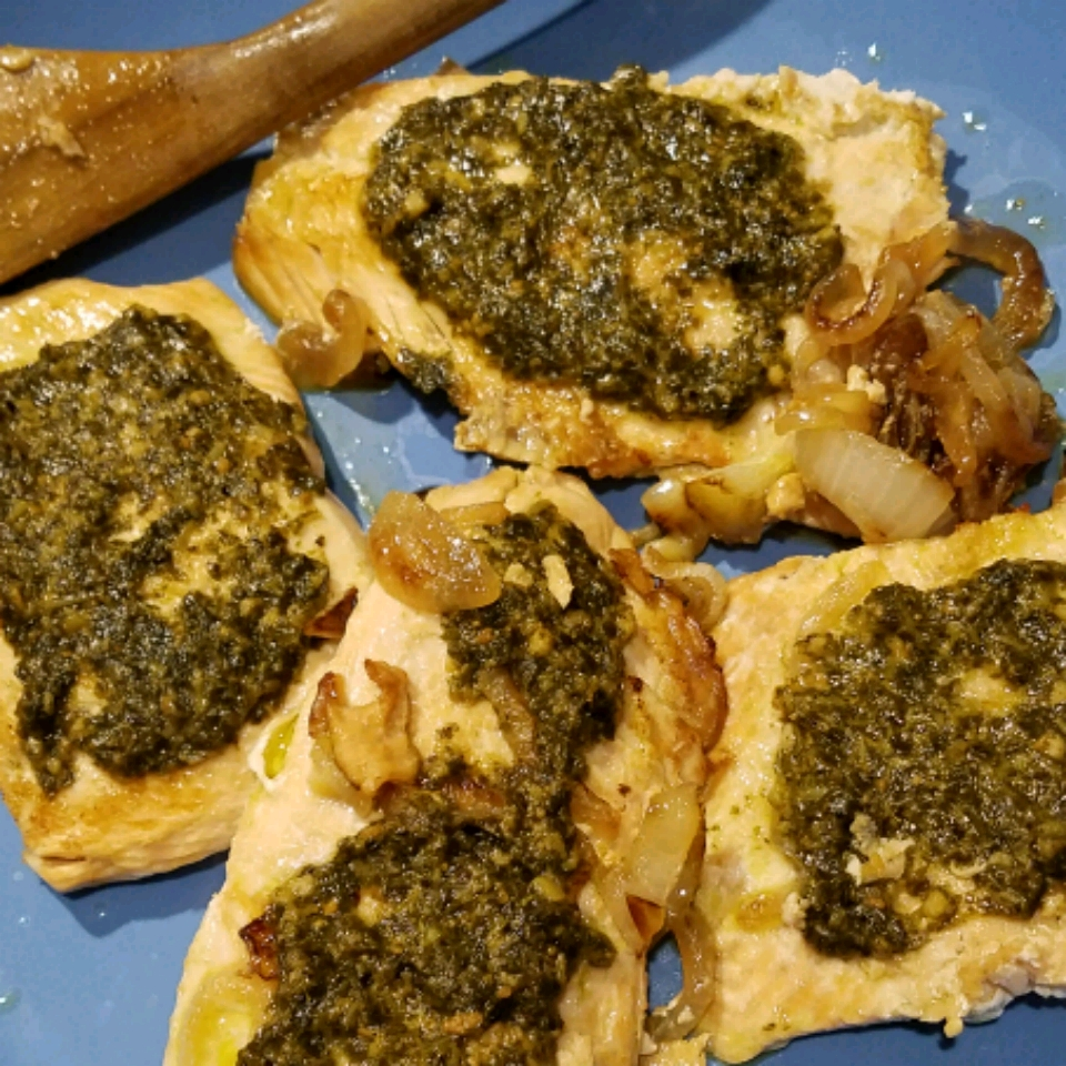 Grilled Salmon With Pesto Crust Melanie Lamere