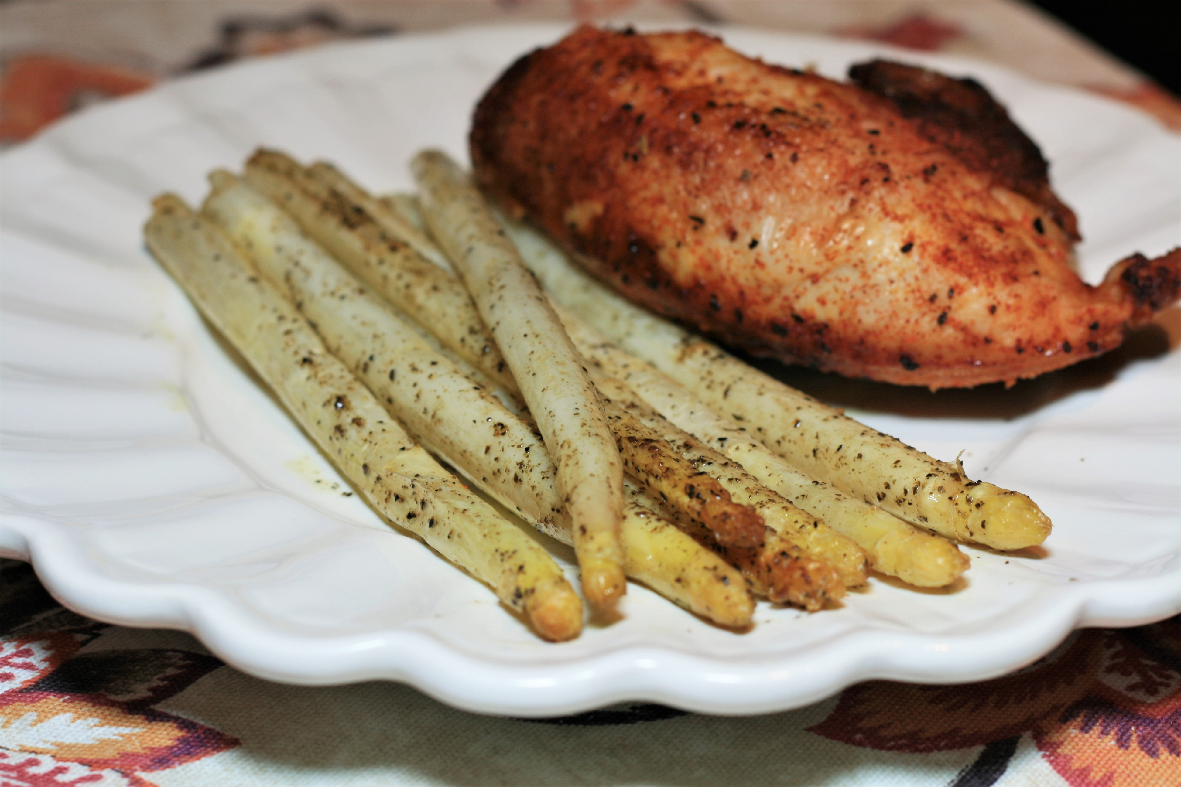 Roasted White Asparagus with Herbes de Provence