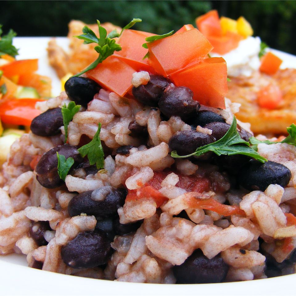 """Some say beans and rice is the most nutritious and well balanced meal in the world,"" says Kathy Miller. ""Try adding your favorite chutney or salsa to this dish when you serve it!"""