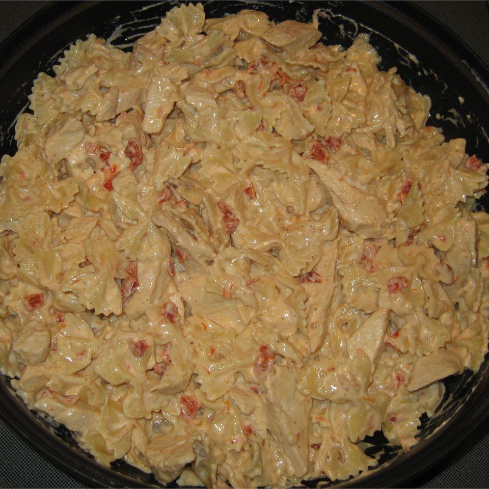 Chicken and Bowtie Pasta with Asiago Cream Sauce CookieeMonster13