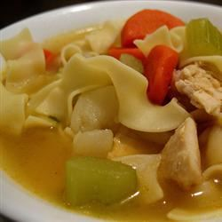 Chicken Noodle Soup with Egg Noodles Totally Fit & Fabulous
