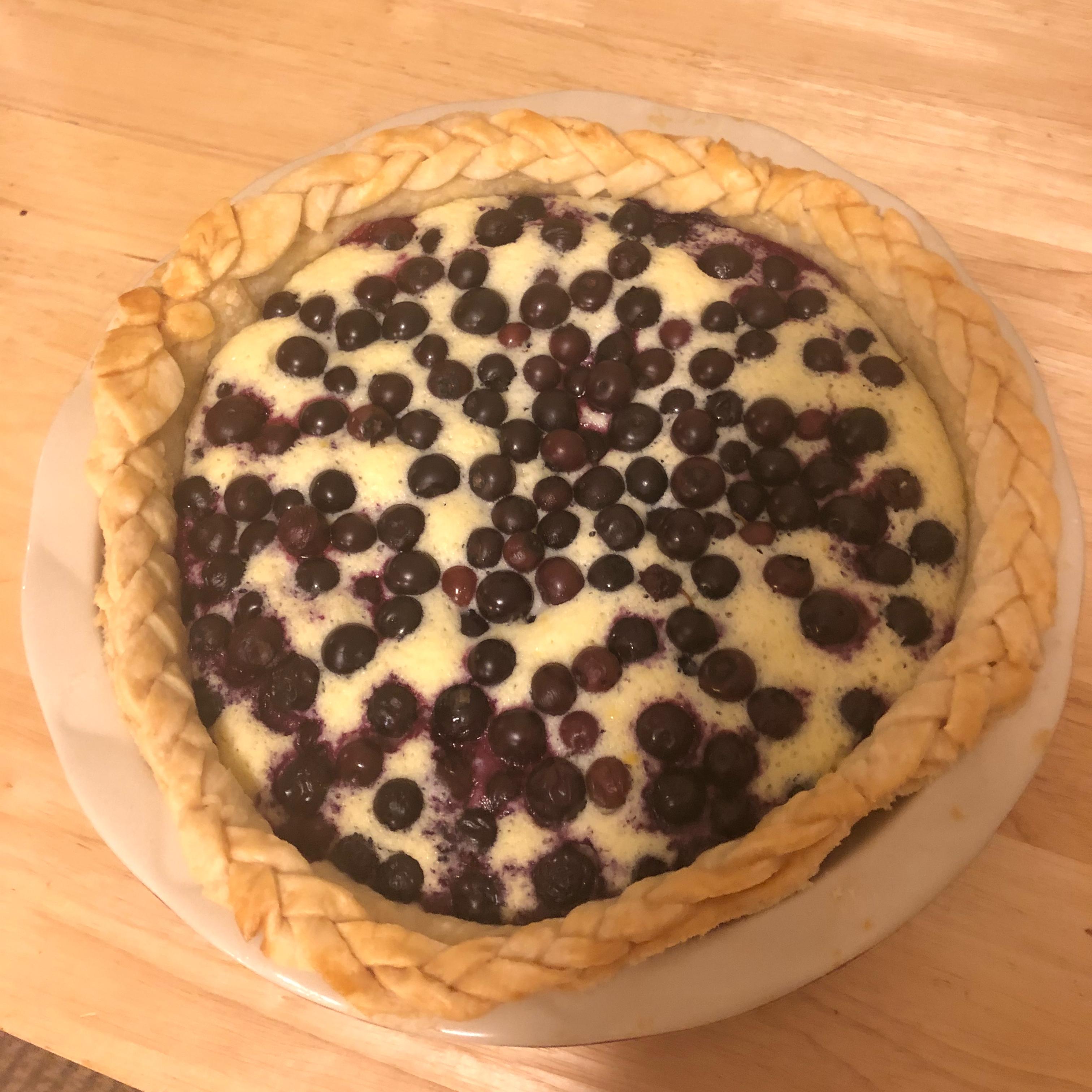 Lemon Blueberry Custard Pie Brittany Moor