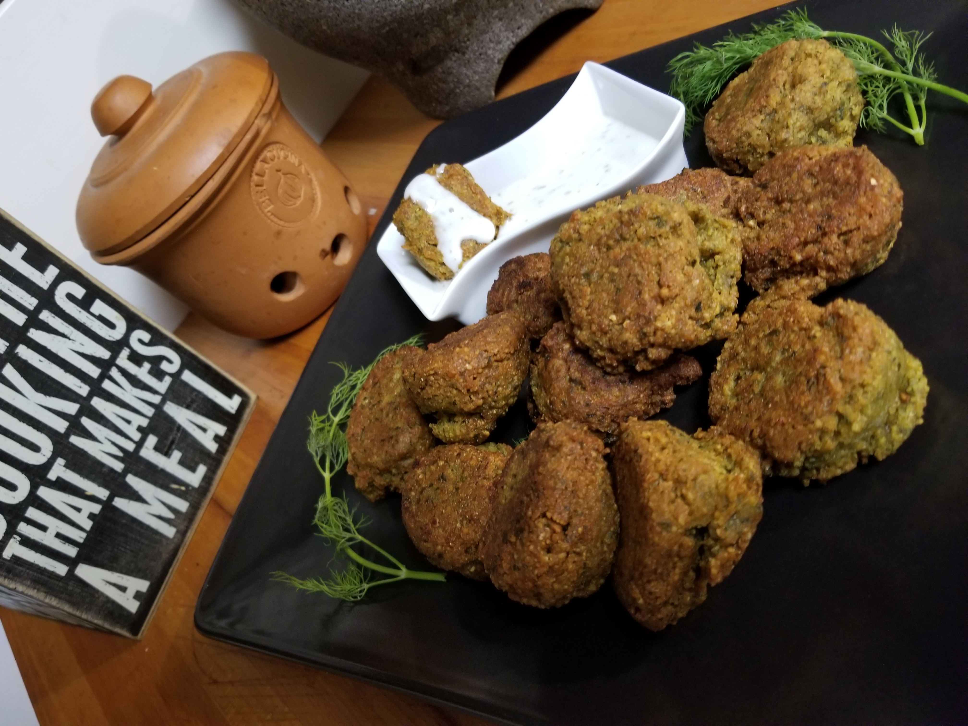 Pan-Fried Falafel Bites