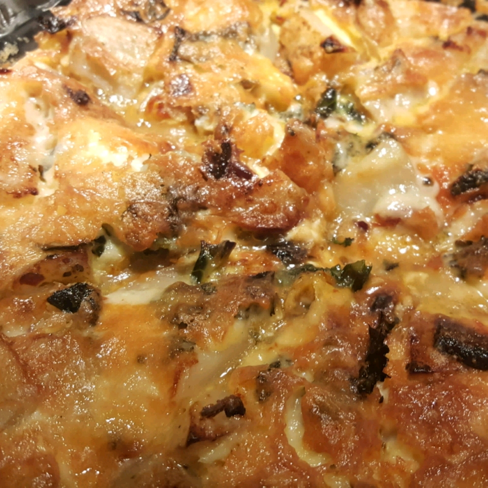 Kale and Smoked Salmon Frittata Colleen Seal
