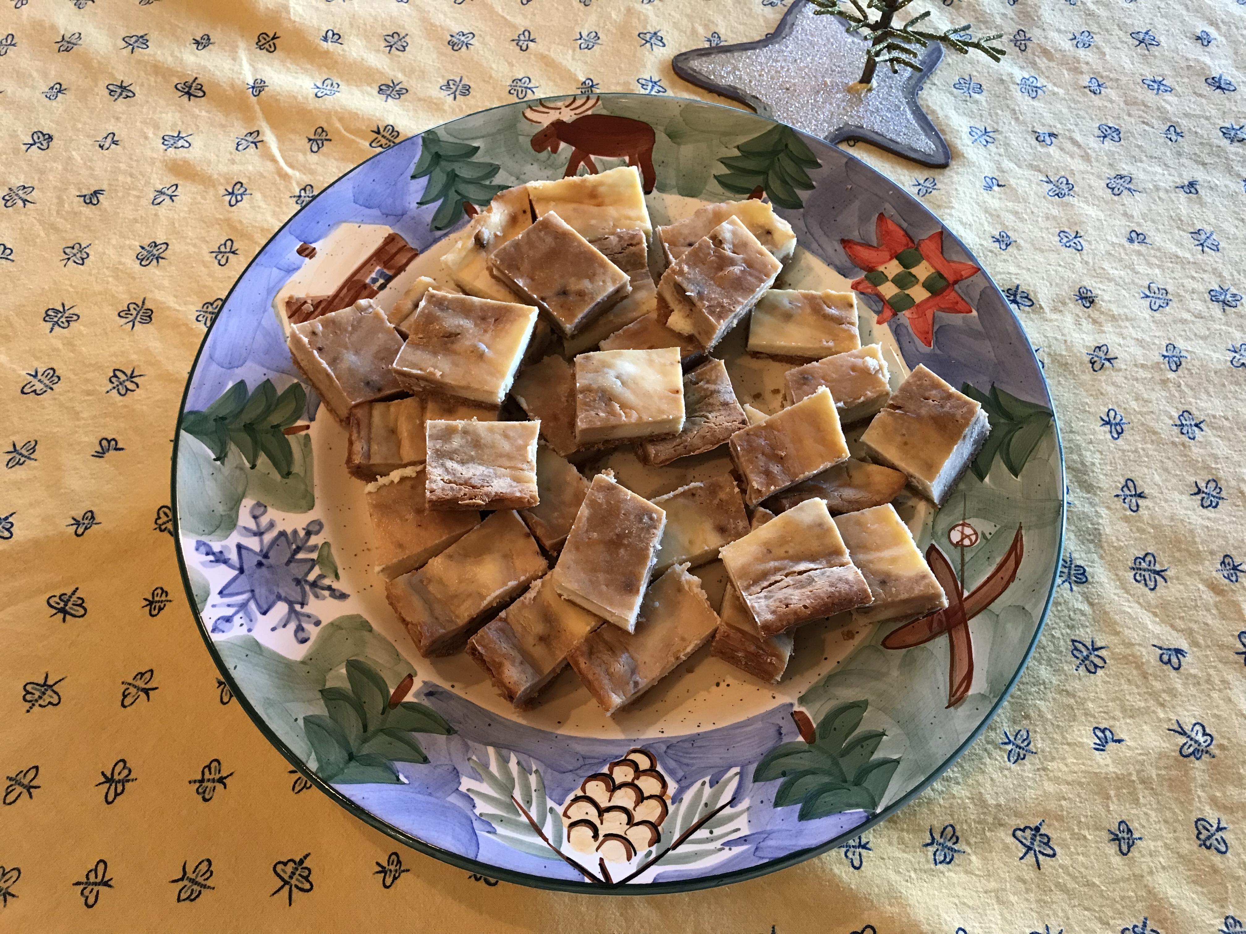 Sea Salt Caramel Swirl Cheesecake Bars