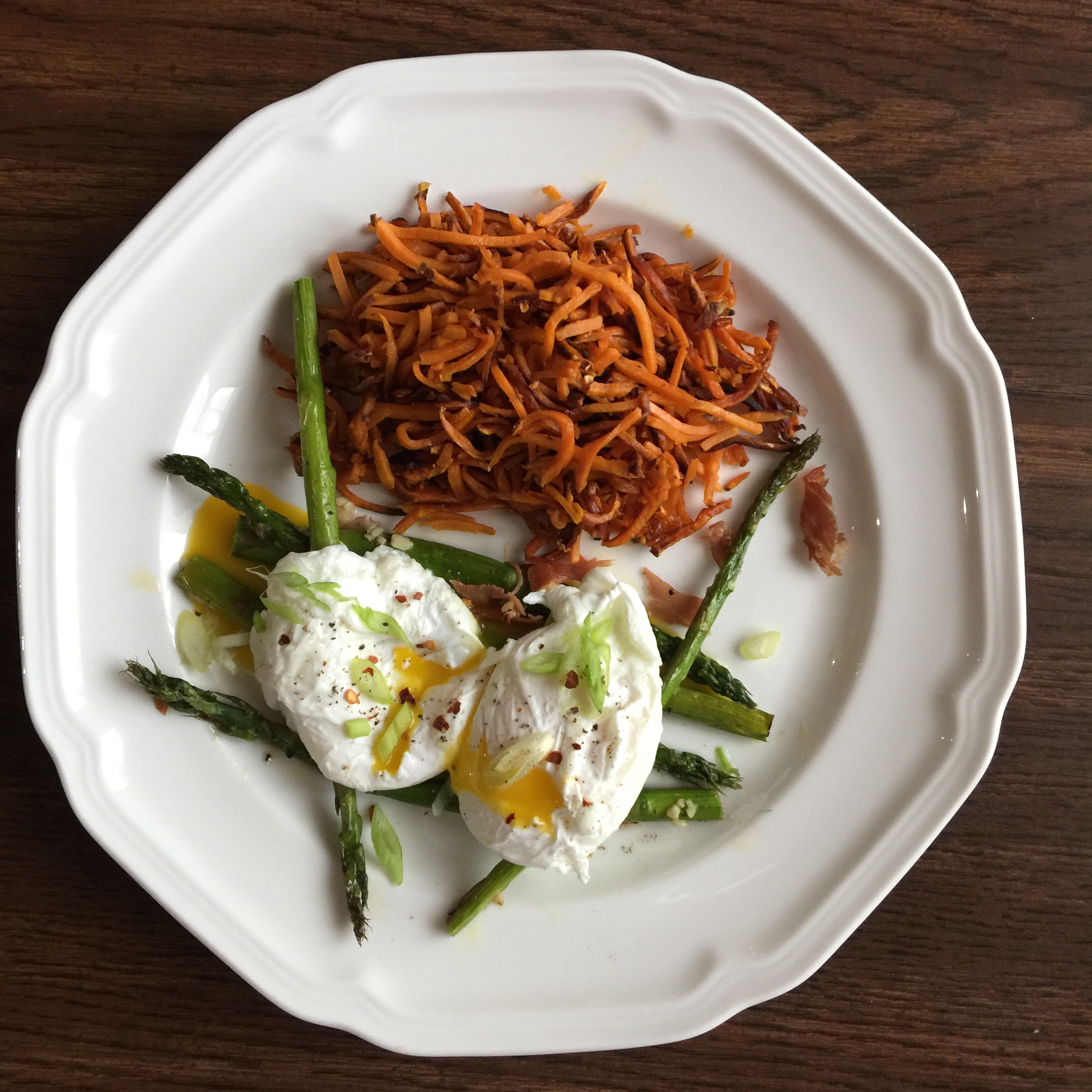 Roasted Asparagus Prosciutto and Egg Sage