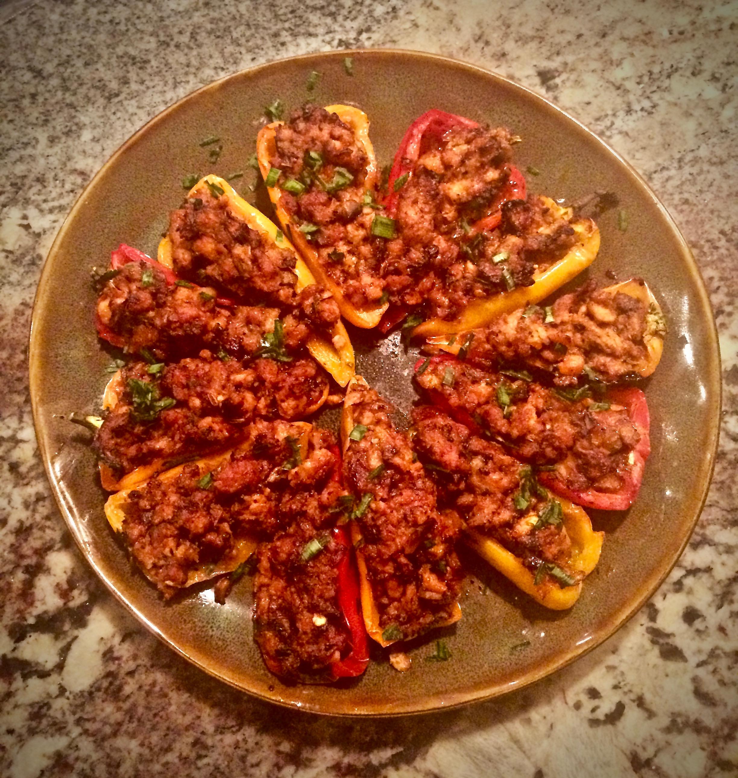Spicy Sweet Pepper Poppers Bibi