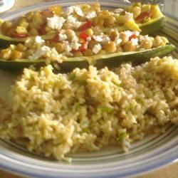 Zucchini with Chickpea and Mushroom Stuffing Mellina