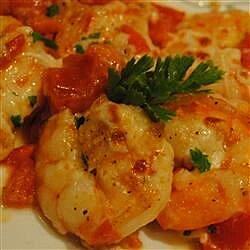 shrimp scampi and tomato broil recipe
