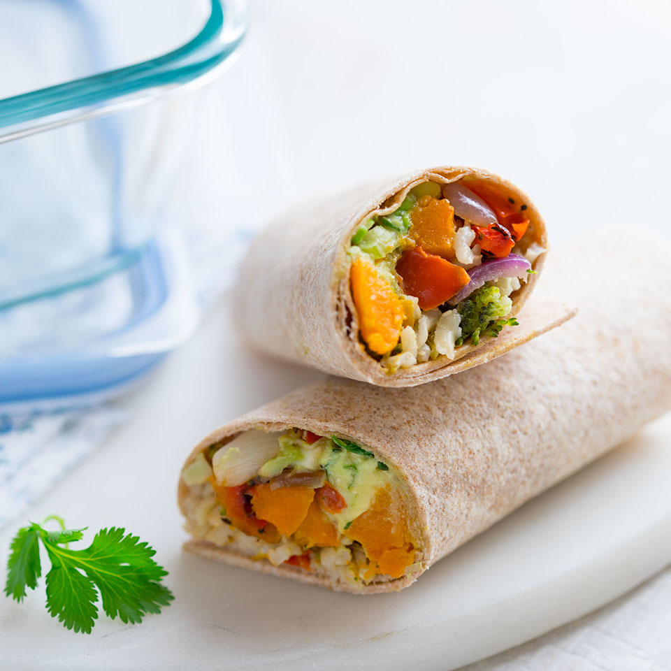 Easy Brown Rice & Veggie Wrap Trusted Brands