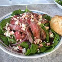 Steak and Spinach Salad jessica