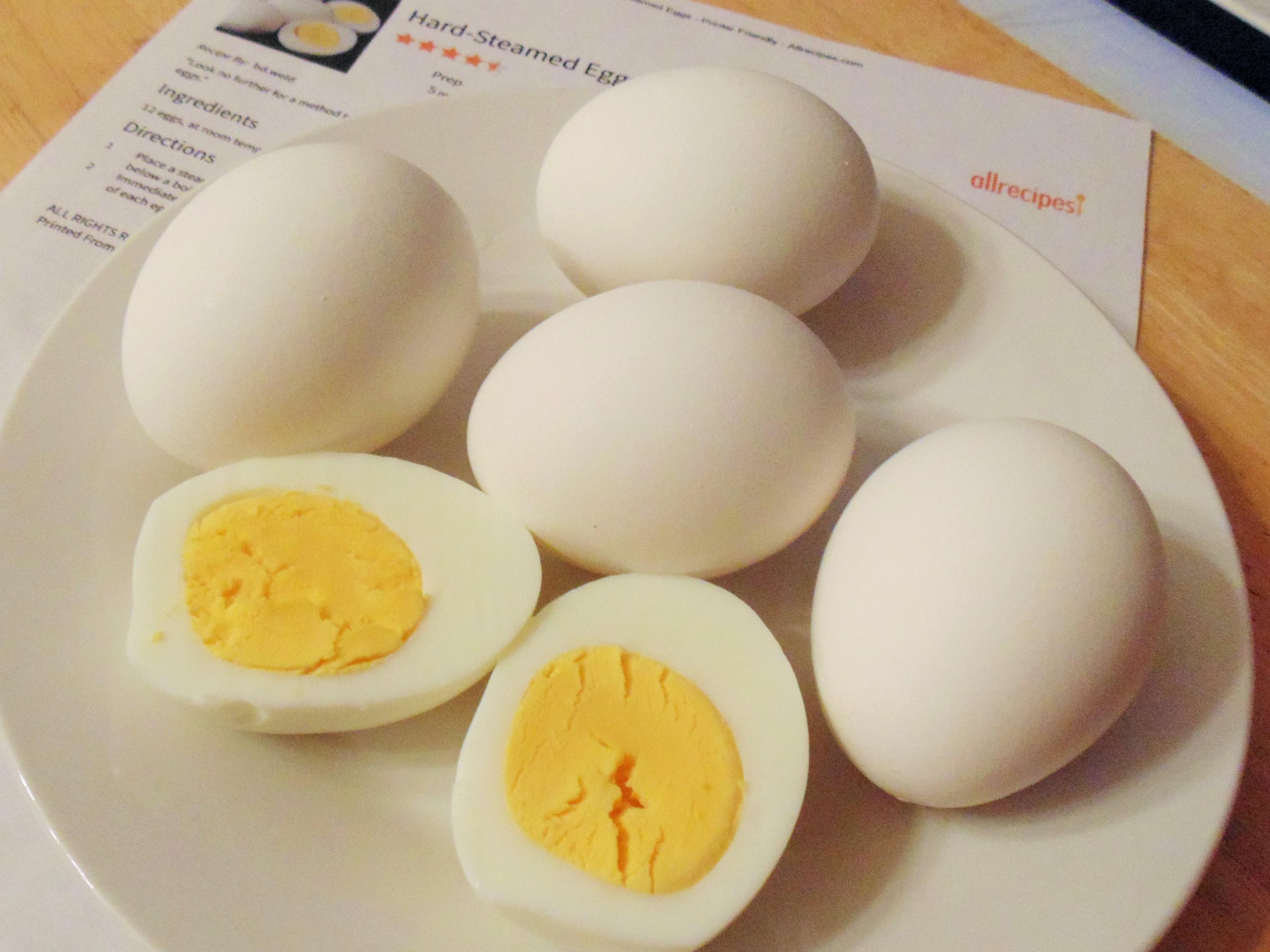 Hard-Steamed Eggs Christina