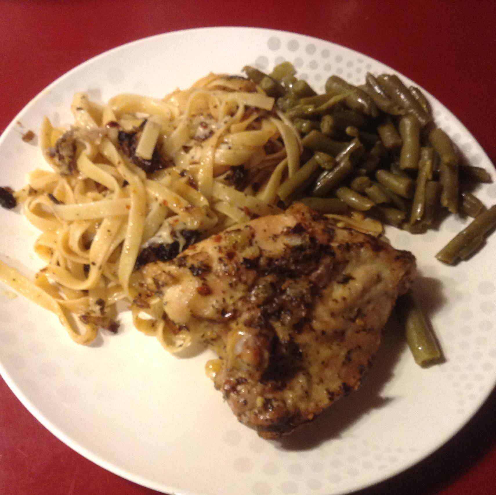 Oven Chicken and Linguini Jackita