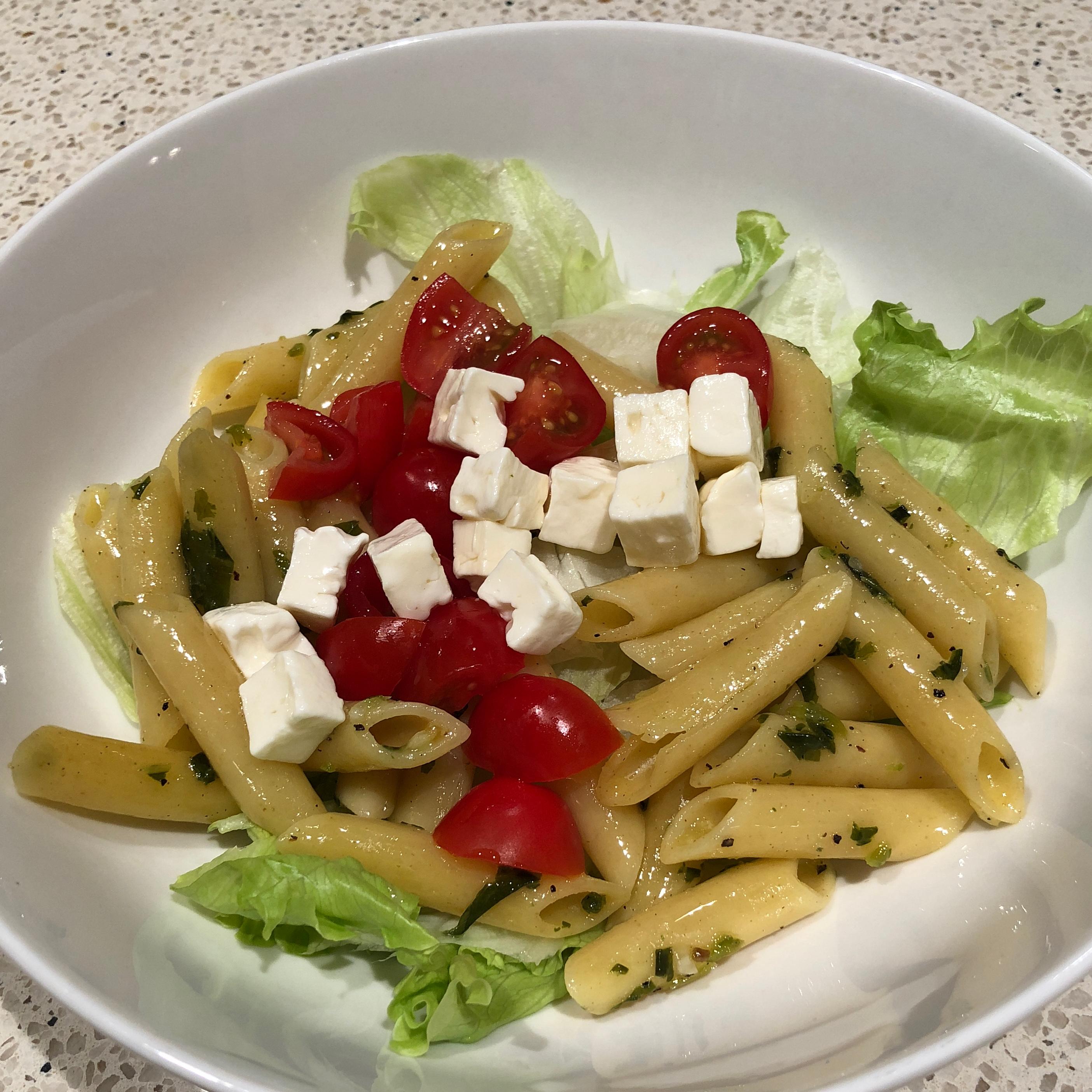 Pesto Pasta Caprese Salad
