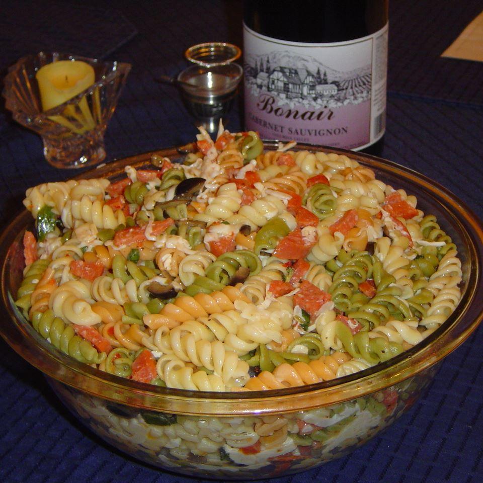 Rainbow Pasta Salad I Jodi