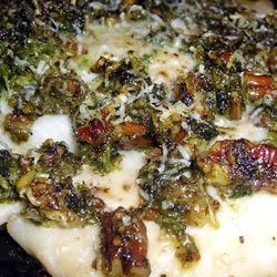 Baked Tilapia with Arugula and Pecan Pesto Another Black Swan